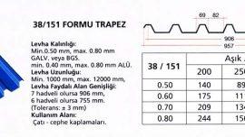 38/151 Trapez Saç